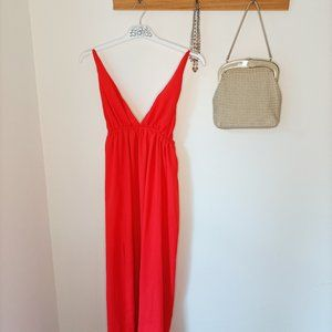 Peppermayo red maxi dress backless cocktail 8